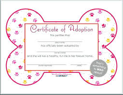 Pictures Of Blank Birth Certificates Adorable Printable Free Birth Certificate Template Dog Show Word Templates