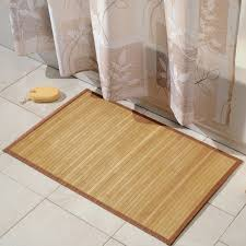 simple bamboo bath mat