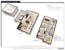 apartment 3 bedroom. the glen: 3-d floor plan for 3-bedroom apartments (a units apartment 3 bedroom
