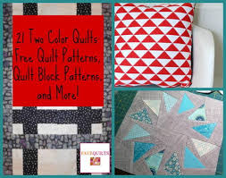 21 Two Color Quilts | FaveQuilts.com & 21 Two Color Quilts: Free Quilt Patterns, Quilt Block Patterns, and More! Adamdwight.com