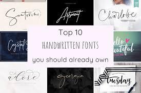 Best Handwritten Fonts For Designers The Top 10 Handwritten Fonts The Handwriting Studio