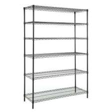 6 shelf 72 in h x 48 in w x 18 in d