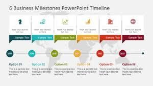 Timeline Ppt Slide 6 Business Milestones Powerpoint Timeline Slidemodel