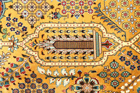 ont yellow oriental rug 6 x9 hand knotted silken kashan overdyed pure