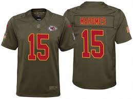 Youth To Chiefs Kansas Salute Game Jersey Service 2017 City Mahomes Patrick Olive