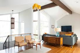 mid century modern wood ceiling living room midcentury with natural light open concept mid century furniture