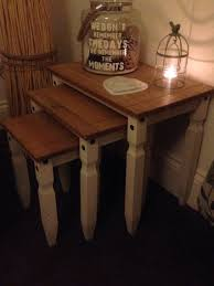 Mexican Pine Living Room Furniture Shabbychic Mexican Pine Revamp Nest Of Tables Pine Furniture