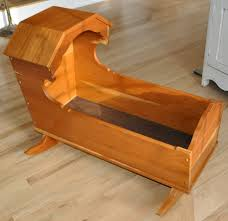 large baby cradle cedar wood wooden bassinet rocking rocker