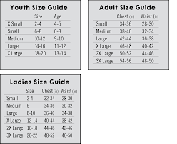 T Shirt Size Charts New York Chalk Of The Town