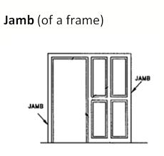 metal door jamb. Jamb (of A Frame) \u2013 The Vertical Frame Components Which Form Perimeter Of Hollow Metal Frame. Door