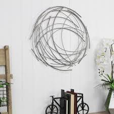 This 36l x 36w white wall art decor hangs via backing hardware. Metal Wall Decor Sale Through 06 01