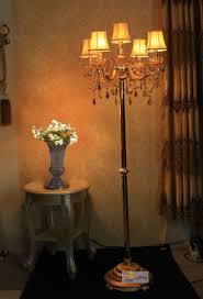 Us 25926 13 Offgold Antike Stehlampe Schlafzimmer Gold Vintage Kristall Stehleuchte Mit Lampenschirm Zeitgenössische Bodenleuchten Weddinhg