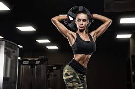 pose female workout fitness