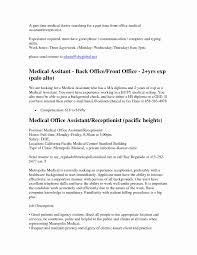 Medical Office Receptionist Resume Luxury Resume Samples For Medical