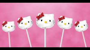 Hello Kitty Cake Pops Recipe Youtube