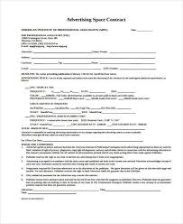 Sample Advertising Contract Forms 8 Free Documents In Word Pdf