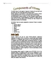 components of fitness for netball a level physical education  page 1 zoom in