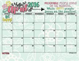 april calendar april 2016 calendar free printables inkhappi