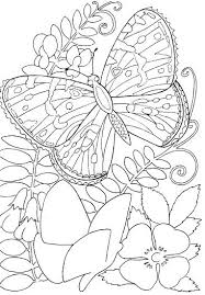 Printable Coloring Pages Of Flowers And Butterflies Coloring Outstanding Printable Coloring Pages Animals