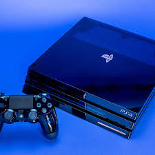 Blue Light Ps4 Pro 500 Million Limited Edition Ps4 Pro Detailed In Close Up