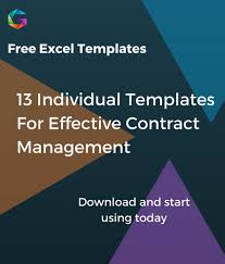 Contract Management Excel Template Free Excel Contract Management Templates