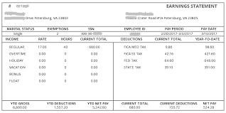 Sample Check Stub Sample Paycheck Stub Rome Fontanacountryinn Com