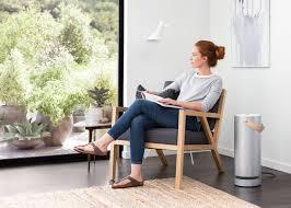 the molekule air purifier living area