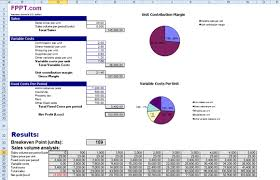 Excel Break Even Analysis Template Break Even Analysis Using Free Templates