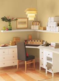 office color palettes. Invitingly Contemporary Home Office! Wall Color: Dark Beige - Shelves Subtle Office Color Palettes