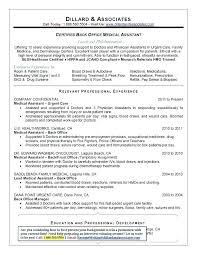 Medical Back Office Resume Examples | Dadaji.us