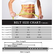 Alloy Jeans Size Chart Womens Genuine Leather Belts With Polished Alloy Buckle For