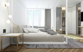 gray and white bedroom | Interior Design Ideas.