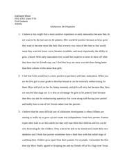 fcd lifespan development texas state page course 2 pages adolescent development activity notes