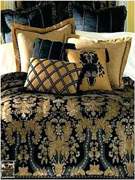 blue and gold bed set image of black and gold full size comforter sets navy blue