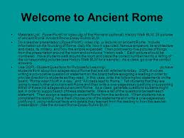 unit gc ancient ppt video online  welcome to ancient rome