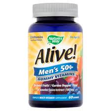 natures way alive mens 50 gummy vitamins multivitamin supplements 60 count com