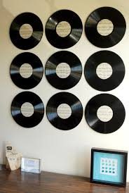 make awesome new art for your walls out of some old vinyl records and some vintage on wall art vinyl records with vinyl record wall art endlessly inspired