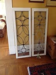 antique cabinet doors. two antique leaded glass cabinet doors, as window panes? doors