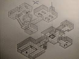Art My First Attempt At Drawing An Isometric Dungeon What Do You