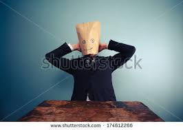Image result for Businessman with bag on head