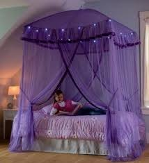 HearthSong Sparkling Lights Lighted Canopy Bower, In Purple