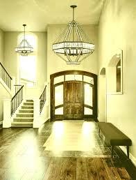 2 story foyer chandelier modern lighting installation