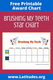 Free Printable Tooth Brushing Chart Free Brushing Your Teeth Chart Weekly Star Acn Latitudes