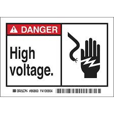 Brady Part: 86860 | <b>DANGER High Voltage</b>. Labels | BradyID.com