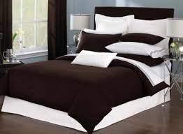 image of contemporary bedding sets brown