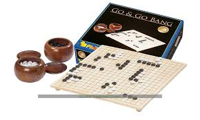 Game With Stones And Wooden Board Go Set with Bowls Full Size Wooden Go Board Stones Bowls 99