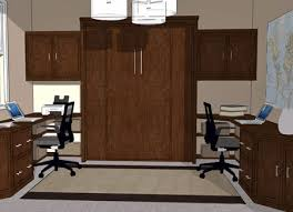 home office murphy bed. Double Desk Wall Bed System For Home Office Murphy