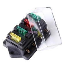 12v fuse box 12v 24v fuse holder box block 4 way car vehice circuit automotive 4 blade
