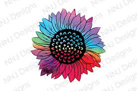 See the presented collection for sunflower svg. Tie Dye Sunflower Sublimation Clipart Graphic By Nnj Designs Creative Fabrica