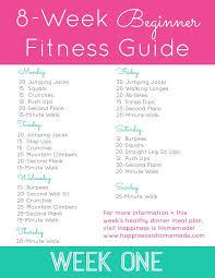 8 Week Beginner Fitness Jumpstart Week One Workout Plan